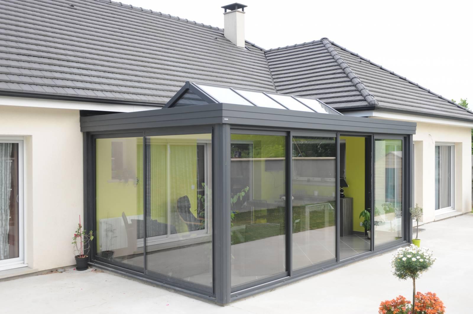 Création d\'une extension vitrée type véranda à Proximité de Bourgoin ...